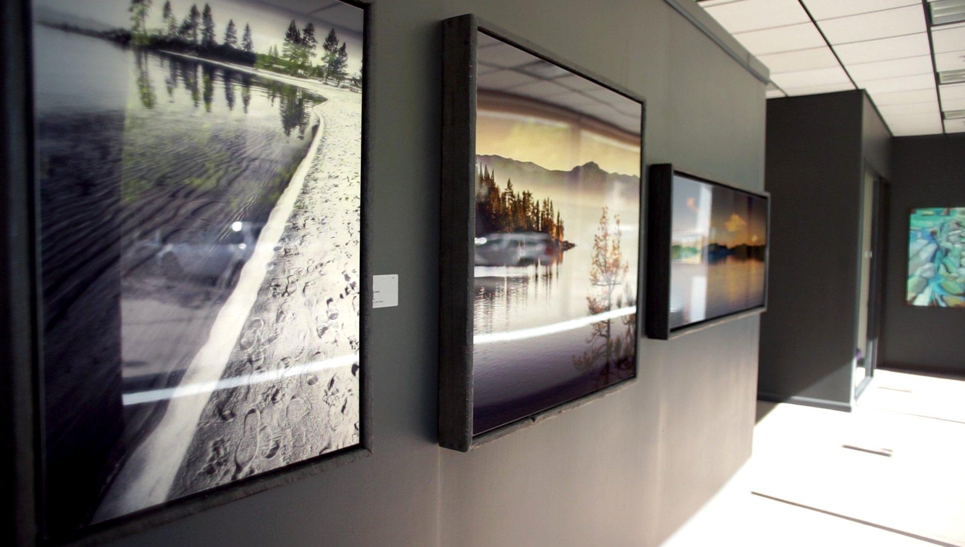Exhibitions by Maz Mahjoobi - Tahoe Metal Prints in Reclaimed Wood Frames