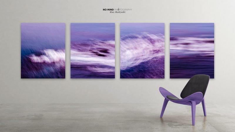 Purple Sea - Quadtych - In Situ