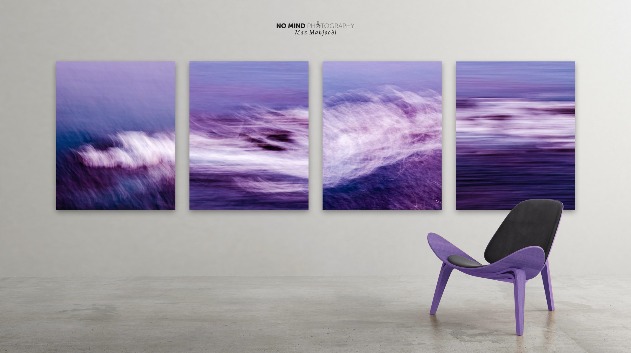 Purple Sea - Quadtych - In Situ